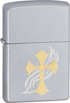 Zippo Cross Style5 Outdoor Indoor Windproof Lighter Free Custom Personalized Engraved Message Permanent Lifetime Engraving on Backside