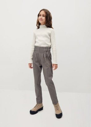 MANGO Straight checked trousers