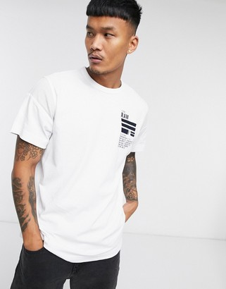 G Star G-Star back graphic loose fit T-shirt in white