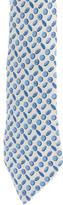 Hermes Silk Button Print Tie