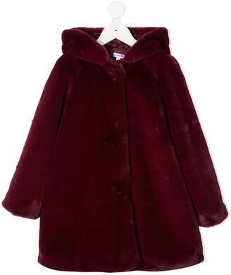 Piccola Ludo Hooded Faux-Fur Coat