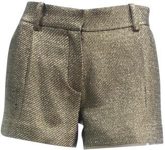 Diane von Furstenberg Gold Polyester Shorts