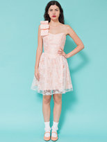 American Apparel Vintage Floral Lace Oversized Bow Strap Mini Dress