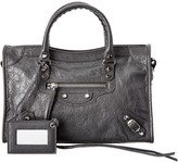 Balenciaga Classic Silver City S Small Leather Shoulder Bag