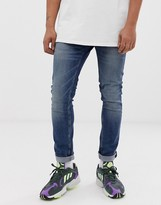 Cheap Monday tight skinny jeans in indigo head