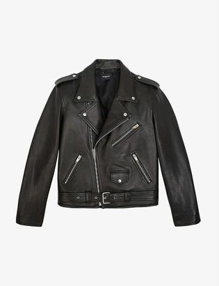 The Kooples Zipped leather biker jacket