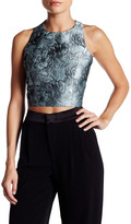 Alice + Olivia Farrah Geometric Back Cropped Tank