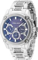 Police BLUE Dial Stainless Steel Bracelet Mens Watch