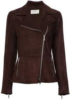 The Row paylee asymmetric suede biker jacket