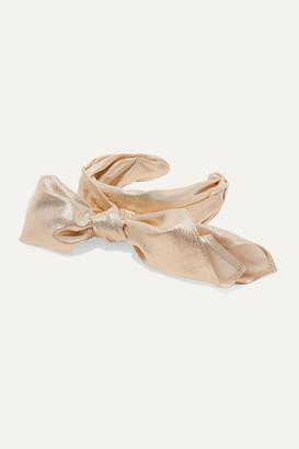 Ruslan Baginskiy Bow-embellished Lame Headband - Gold