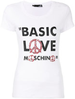 Love Moschino printed slogan T-shirt