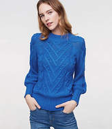 LOFT Stitchy Cable Sweater