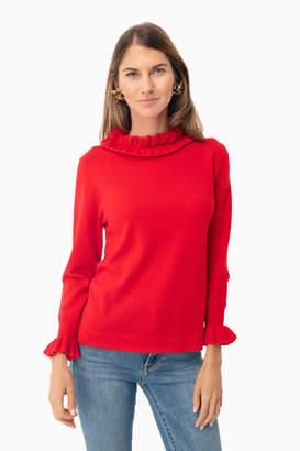 Tuckernuck Ivory Shimmer Edie Ruffle Sweater