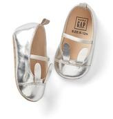 Gap Metallic bunny ballet flats