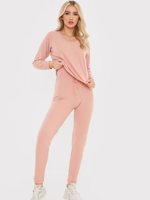 In The Style In The StyleBrushed Rib Co-ord Joggers