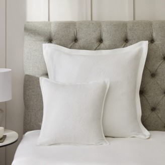 The White Company Nimes Cushion Cover, White, Large Square