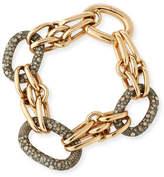 Pomellato Tango 18K Rose Gold Link Bracelet with Brown Diamonds