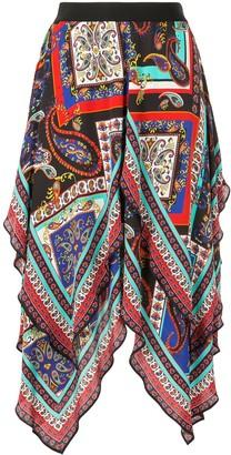 Alice + Olivia Maura paisley-print handkerchief skirt