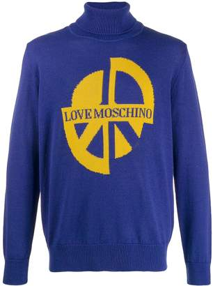 Love Moschino intarsia-knit jumper