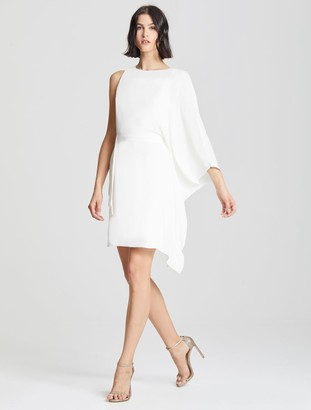 Halston Flowy Sleeve Dress