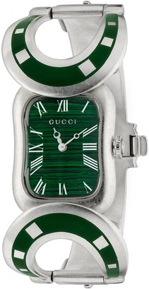 Gucci Silver watch with Horsebit, 22 x 30mm