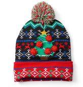 Men's Ugly Christmas Sweater LED Light-Up Beanie