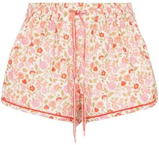 Zimmermann Goldie floral-print shorts