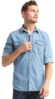 Gap 1969 Denim Western Slim Fit Shirt