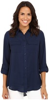 Christin Michaels Paula Button Down Blouse