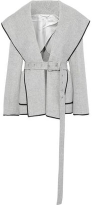 Helmut Lang Belted Wool And Cashmere-blend Felt Hooded Jacket
