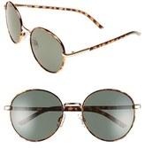 BP Women's 55Mm Round Sunglasses - Brown Tort