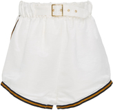 Cynthia Rowley Hudson Silk Linen Belted Boxing Short