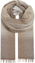 Brunello Cucinelli Blended Hue Wool & Cashmere Scarf