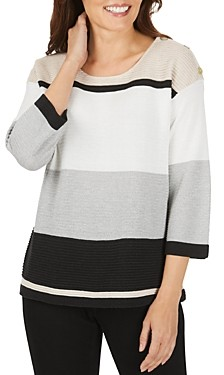 Foxcroft Linden Color-Block Sweater