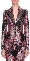 Dolce & Gabbana Two-Button Rose-Jacquard Jacket