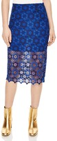 Sandro Lagon Lace Pencil Skirt