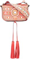 Moschino Mexican embroidery shoulder bag - women - Leather - One Size