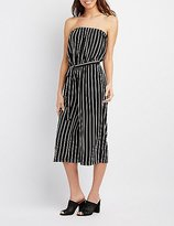 Charlotte Russe Strapless Striped Jumpsuit