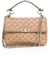 Valentino Rockstud Medium Quilted Leather Chain Shoulder Bag