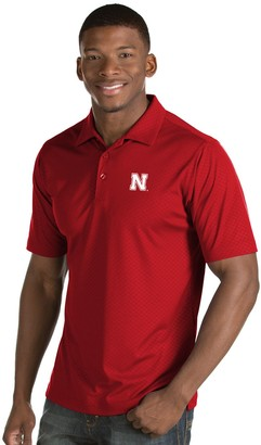 Antigua Men's Nebraska Cornhuskers Inspire Polo