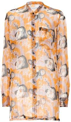 Dries Van Noten Printed silk shirt
