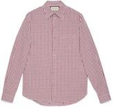 Gucci Square G fil coupe check shirt