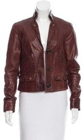 Chloé Button-Accented Leather Jacket