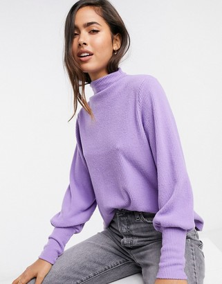 Y.A.S knitted jumper with batwing sleeves in lilac