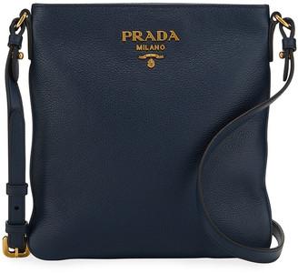 Prada Daino Crossbody Bag w/ Removable Web & Leather Straps