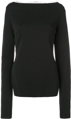 Givenchy lace back sweater