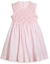 Luli & Me Sleeveless Smock Embroidered Dress, Pink, Size 2-4T
