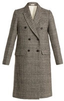 Masscob Double-breasted checked wool-tweed coat