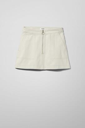 Weekday Piet Mini Skirt - Beige