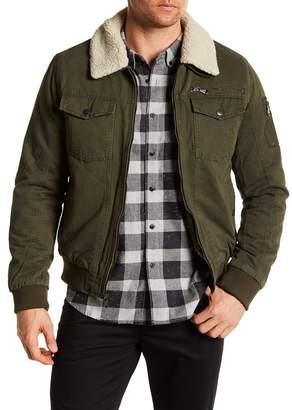 PX Maverick Aviator Faux Shearling Collar & Lining Jacket